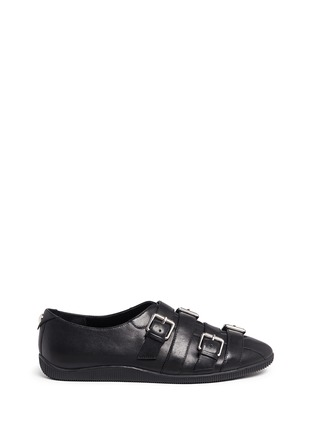 Main View - Click To Enlarge - Opening Ceremony - 'Novva' buckled strappy leather flats