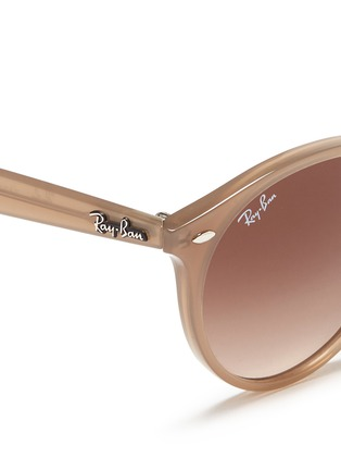 Detail View - Click To Enlarge - Ray-Ban - 'RB2180' keyhole bridge acetate round sunglasses
