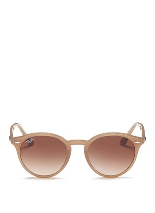 Main View - Click To Enlarge - Ray-Ban - 'RB2180' keyhole bridge acetate round sunglasses