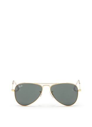 Main View - Click To Enlarge - Ray-Ban - 'Aviator Junior' mirror sunglasses