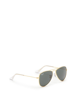Figure View - Click To Enlarge - Ray-Ban - 'Aviator Junior' mirror sunglasses