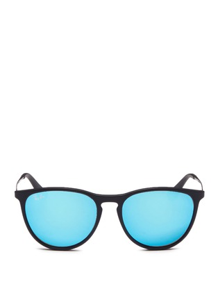 Main View - Click To Enlarge - Ray-Ban - 'Izzy' metal mirror kids sunglasses