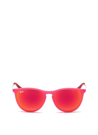 Main View - Click To Enlarge - Ray-Ban - 'Izzy' rubberised nylon mirror kids sunglasses