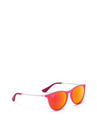 Figure View - Click To Enlarge - Ray-Ban - 'Izzy' rubberised nylon mirror kids sunglasses