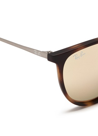 Detail View - Click To Enlarge - Ray-Ban - 'Izzy' tortoiseshell effect rubberised nylon mirror kids sunglasses