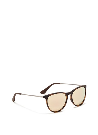 Figure View - Click To Enlarge - Ray-Ban - 'Izzy' tortoiseshell effect rubberised nylon mirror kids sunglasses