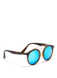 Ray-Ban'Gatsby I Large' tortoiseshell effect round mirror sunglasses