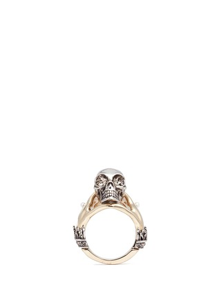 Main View - Click To Enlarge - Alexander McQueen - Hand and skull ring