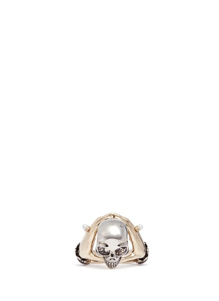 Figure View - Click To Enlarge - Alexander McQueen - Hand and skull ring