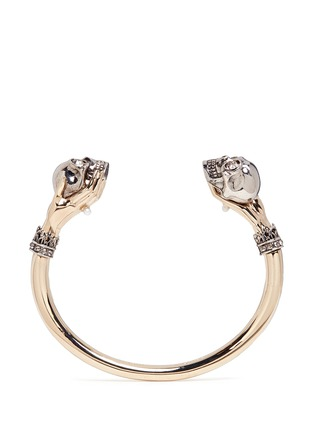Main View - Click To Enlarge - Alexander McQueen - Hand and twin skull cuff