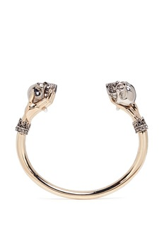 Alexander McQueen Hand and twin skull cuff
