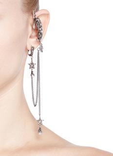 Alexander McQueenCrystal pavé moon cuff single earring