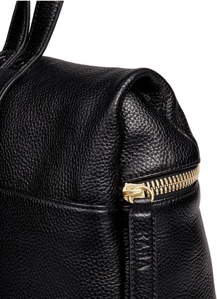 Kara - Pebbled leather backpack