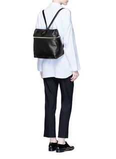 KaraPebbled leather backpack