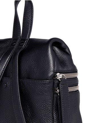 Detail View - Click To Enlarge - Kara - Small double zip leather backpack