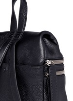 Small double zip leather backpack
