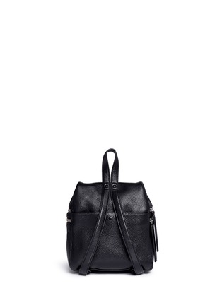 Kara - Small double zip leather backpack
