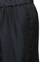 'Palmira' metallic jacquard elastic waist pants