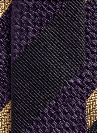 Dries Van Noten - Regimental stripe silk tie