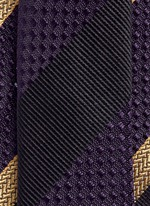 Regimental stripe silk tie