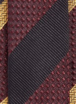 Regimental stripe silk jacquard tie
