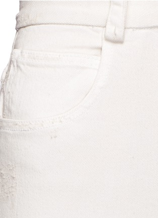 Detail View - Click To Enlarge - Rachel Comey - 'Legion' raw edge cuff wide leg jeans