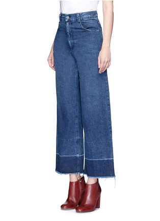Front View - Click To Enlarge - Rachel Comey - 'Legion' raw edge cuff wide leg jeans