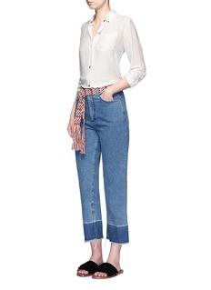 Rachel Comey'Legion' raw edge cuff slim leg jeans