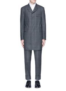 Thom BrowneGlen plaid hairline overcheck wool coat
