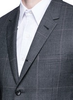 Glen plaid hairline overcheck wool suit