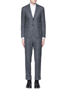 Thom Browne Glen plaid hairline overcheck wool suit
