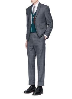 Thom BrowneGlen plaid hairline overcheck wool suit