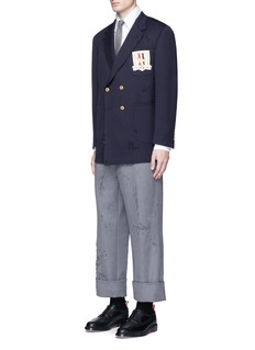 Thom Browne'Phase 3' distressed cavalry twill pants