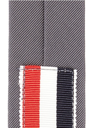 Detail View - Click To Enlarge - Thom Browne - Signature stripe jacquard tie