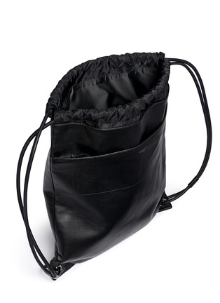 Detail View - Click To Enlarge - Givenchy - Leather drawstring bag