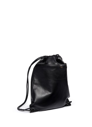 Front View - Click To Enlarge - Givenchy - Leather drawstring bag