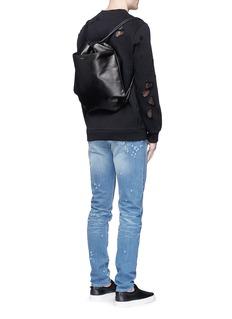 GivenchyLeather drawstring bag