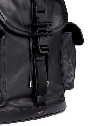 Detail View - Click To Enlarge - Givenchy - 'Obsedia' leather backpack
