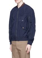 Shirred seam military jacket
