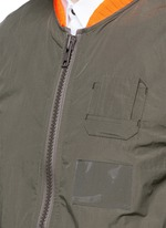 Shirred seam military jacket