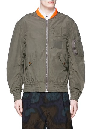 kolor - Shirred seam military jacket