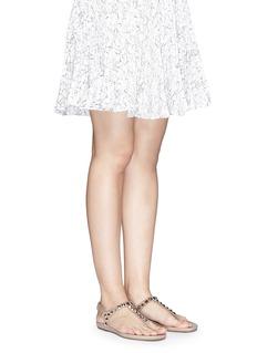 PEDRO GARCÍA'Judith' crystal suede T-strap sandals