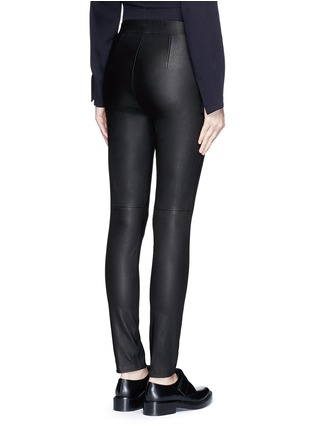 Back View - Click To Enlarge - Theory - 'Adbelle L' leather leggings