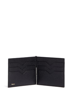 VALEXTRA'Simple Grip Spring' leather wallet