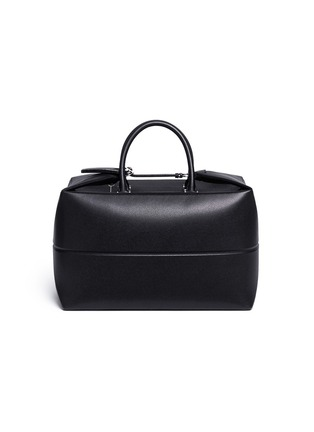 Valextra - Foldable leather carry-on satchel