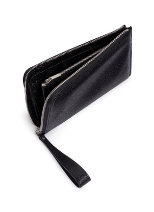 Detail View - Click To Enlarge - Valextra - Leather travel wallet