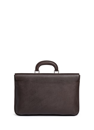 Back View - Click To Enlarge - GIORGIO ARMANI - Saffiano leather flap front briefcase