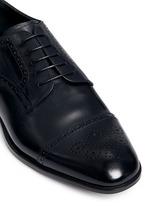 Semi brogue leather Derbies