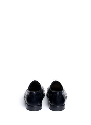 GIORGIO ARMANI-Semi brogue leather Derbies