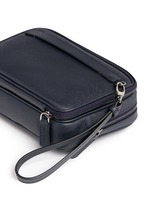 Saffiano leather travel clutch